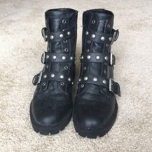 Guess Studded Combat Boots